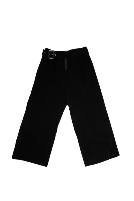 House of Sunny Boxy Cigarette Pant - Black