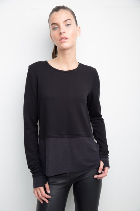 Generation Love Wren Split Back Top - Black