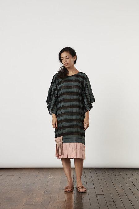Tantuvi Pleated Kimono Tee Dress - Opaque Forest