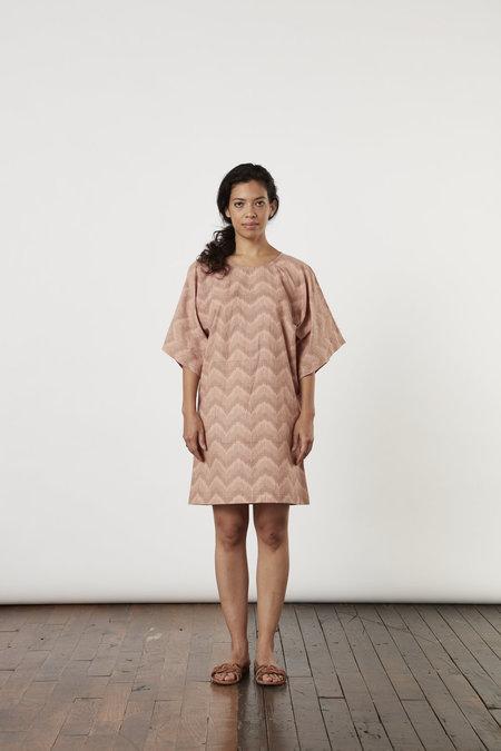 Tantuvi Kimono Tee Dress - Begonia Ikat