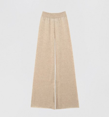 Ryan Roche Lightweight Cashmere Trousers - Bisque