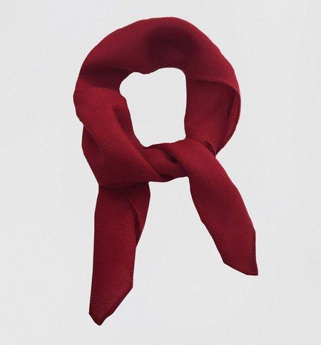 Ryan Roche Woven Scarf - Ruby
