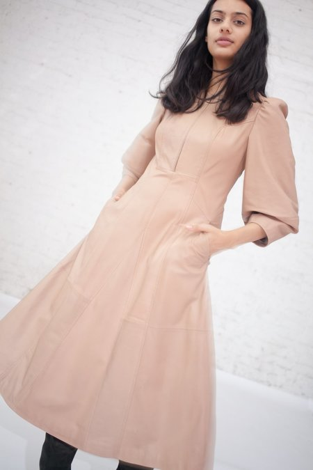 Ulla Johnson Olympia Dress in Nude