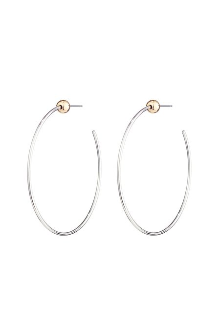Jenny Bird Silver Small Icon Hoops