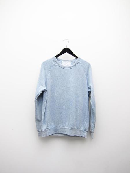 Unisex Audrey Louise Reynolds Organic Eco-Fleece Sweatshirt - Heathered Indigo