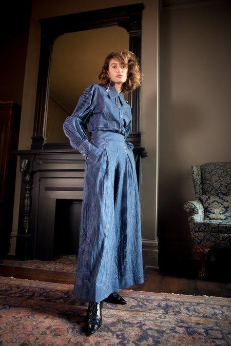Nika Tang SS18 Pre-Order Irene Pant - Blue