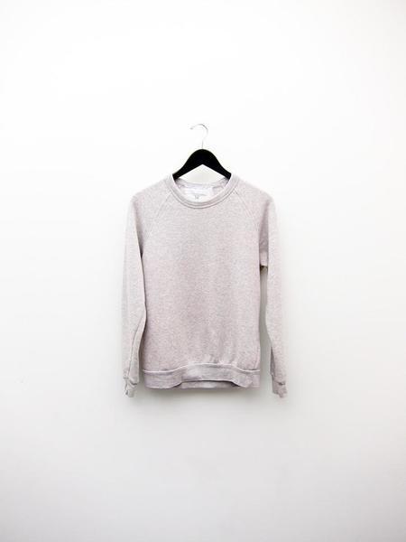 Unisex Audrey Louise Reynolds Organic Eco-Fleece Sweatshirt - Heathered Grey/Pink