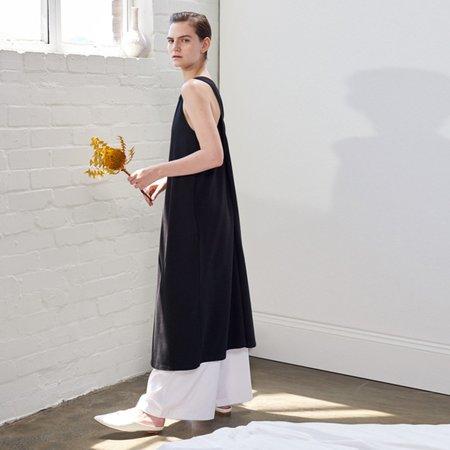 Kowtow Building Block Twist Back Dress - Black
