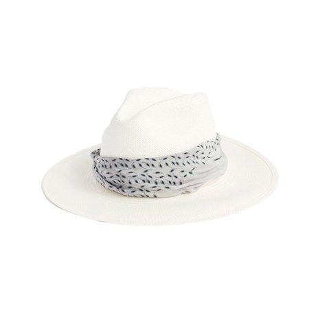 Janessa Leone Marine Panama Hat - White