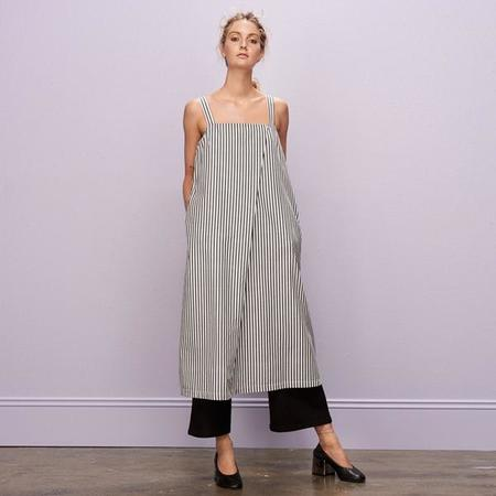 Kowtow Shadow Dress - Navy/White