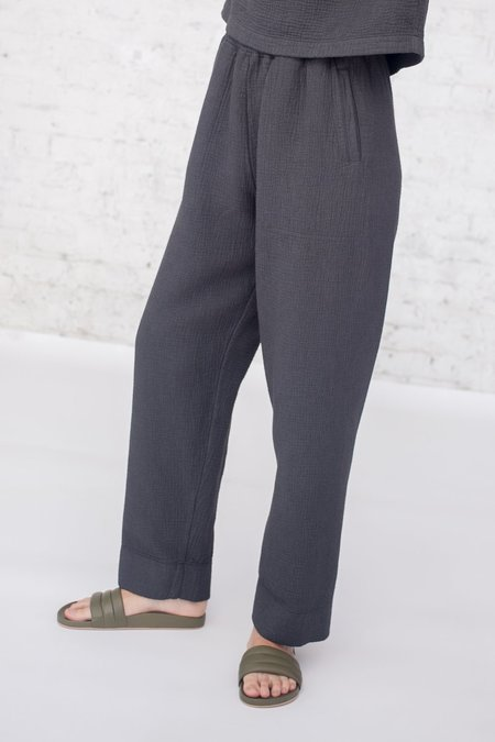 Black Crane Dual Canvas Pants in Charcoal