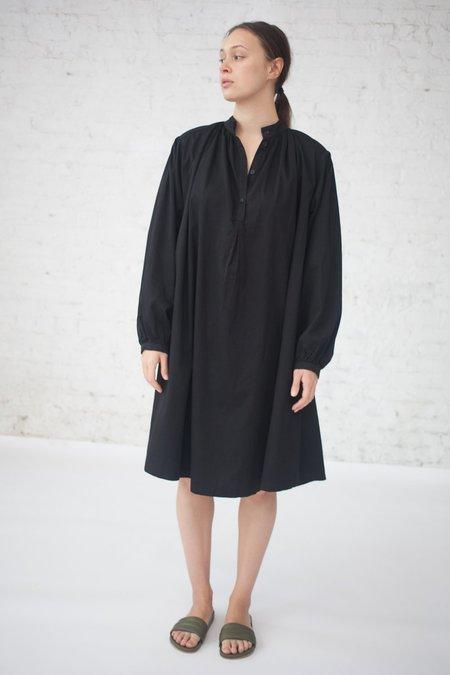 Black Crane Tulip Dress in Black