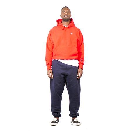Champion Fleece Pullover C Logo Hood - Team Red Scarlet