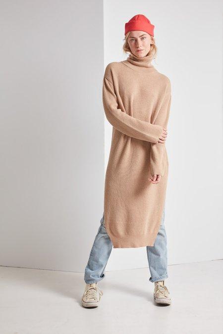 Nanushka Lotta Beta Knit Cocoon Dress - Camel