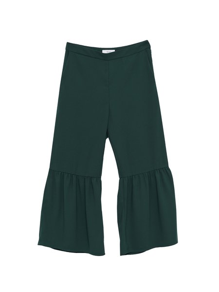 In God We Trust Andy Pants - Green Georgette