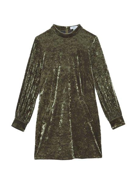In God We Trust Valerie Dress - Green Velvet