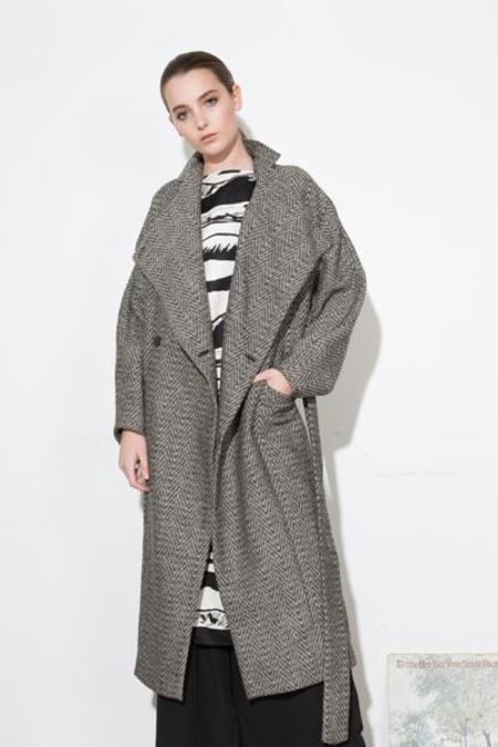 H. Fredriksson *F17 Iris Long Coat Tweed