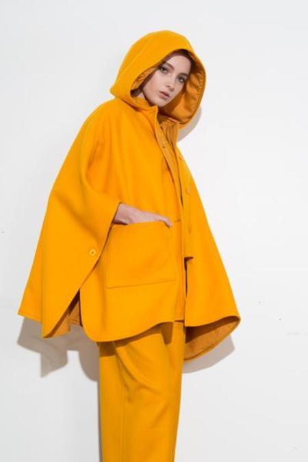 H. Fredriksson *F17 Poncho Coat - Yellow