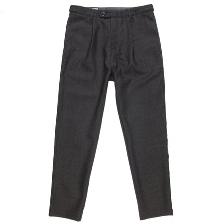 August Fifteenth Mambo Pant - Charcoal Wool Twill