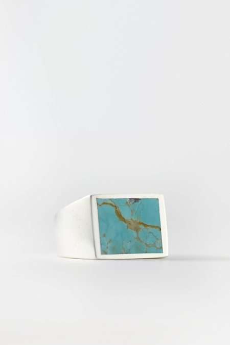 Legier Solid Silver Signet Ring - Turquoise