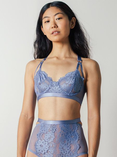 Lonely Lulu Underwire Bra in Cornflower