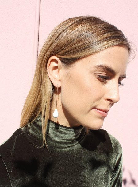 Jujumade Droplet Earrings - Gold/White