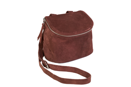 Clyde Camera Bag in Brick Suede