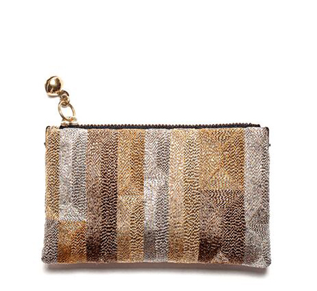 Anne Grand-Clément Tetris Multigold Extra Small Pouch