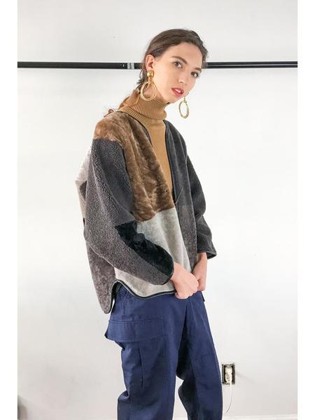 Milena Silvano Midi Kimono - Tundra Caramel