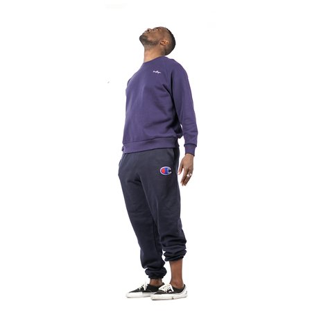 Champion Reverse Weave Big Logo Banded Bottom Pocket Pants - Navy