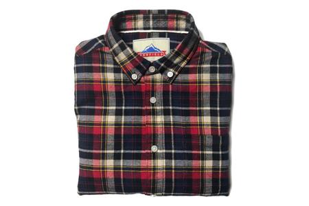 Penfield Barrhead Brushed Cotton Check Shirt Red