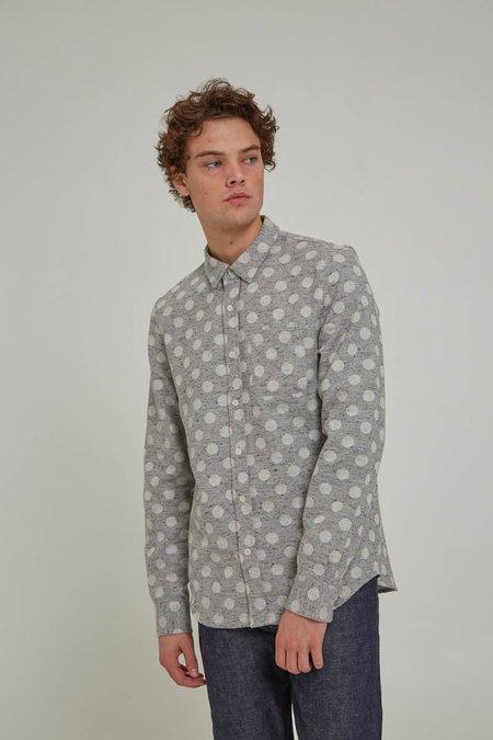 ODIN New York Grey Polka Dot Classic Shirt