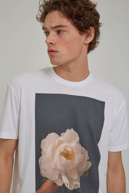 ODIN New York White Flower Tee