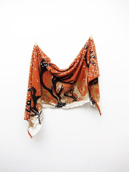 Unisex Kapital Compressed Wool Scarf Journey Caribou - Orange