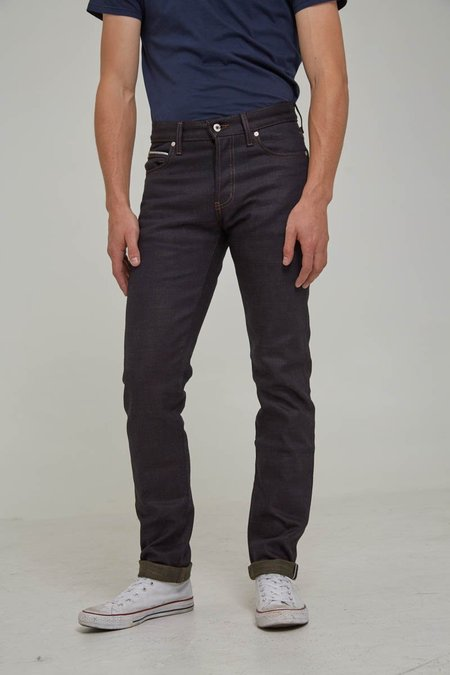 Naked & Famous Super Skinny Guy - Army Green Weft Selvedge