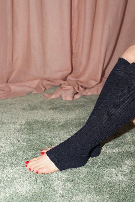 A Détacher Toeless Socks in Navy