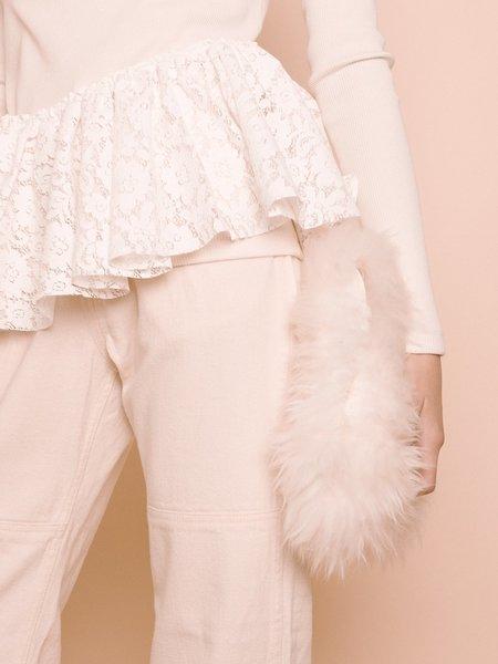 Audrey Louise Reynolds Fur Clutch - Natural