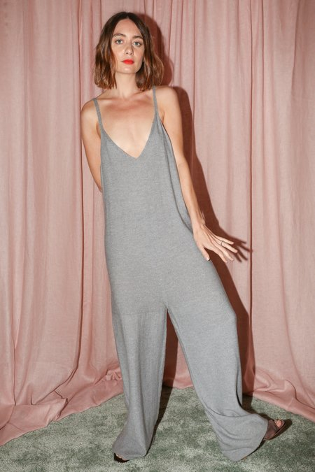 Baserange Homoki Jumpsuit in Grey Melange