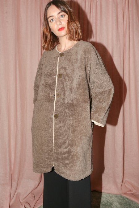 Milena Silvano Moon Coat in Beige