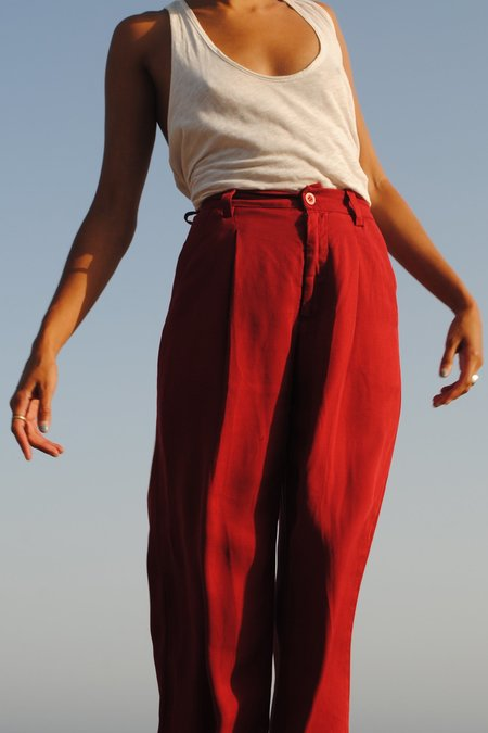Lacausa Clothing Isabelle Trousers in Red