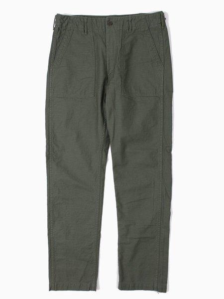 Orslow Slim Fit Fatigue Pant Reverse Cotton Satine Green