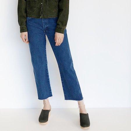 Johan Vintage Medium Wash Raw Hem Jeans