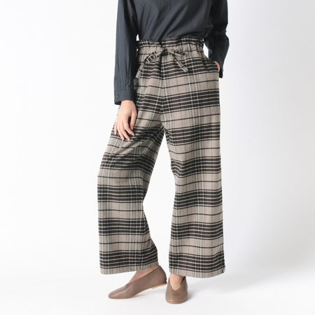 Mill Mercantile Drawstring Wide Pants in Brown