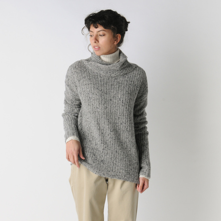 Mill Mercantile Donegal Thermal Crossover Sweater in Alloy Grey