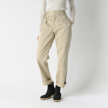 Mill Mercantile Cook Double Pleat Chino in Taupe