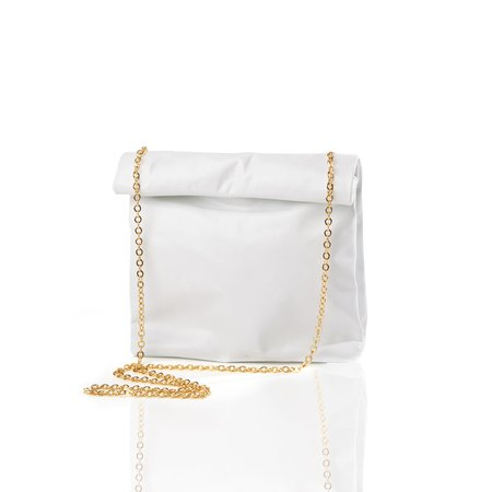 Marie Turnor The Picnic To-Go with Gold Chain - White