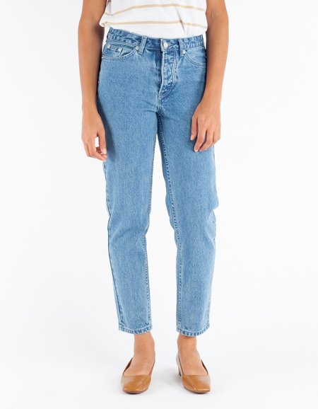 Assembly Label High Waist Rigid Jean - Ashbury Blue