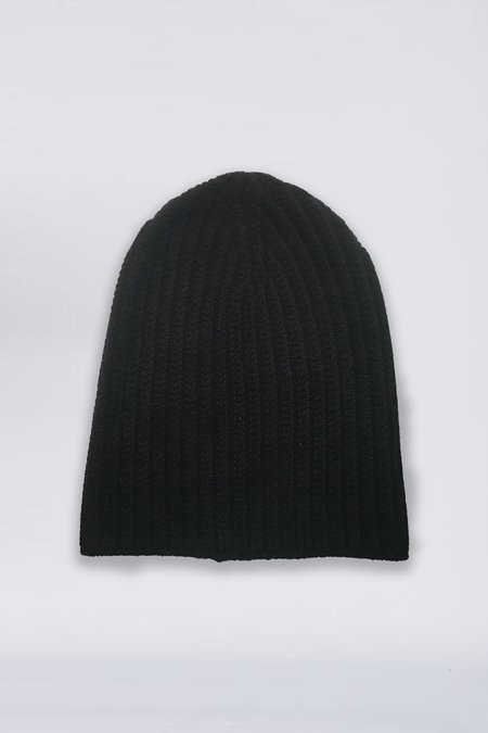 Assembly New York Cashmere Knit Beanie - Black