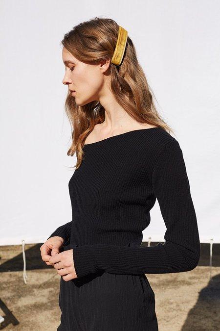 Shaina Mote Curve Sweater in Onyx