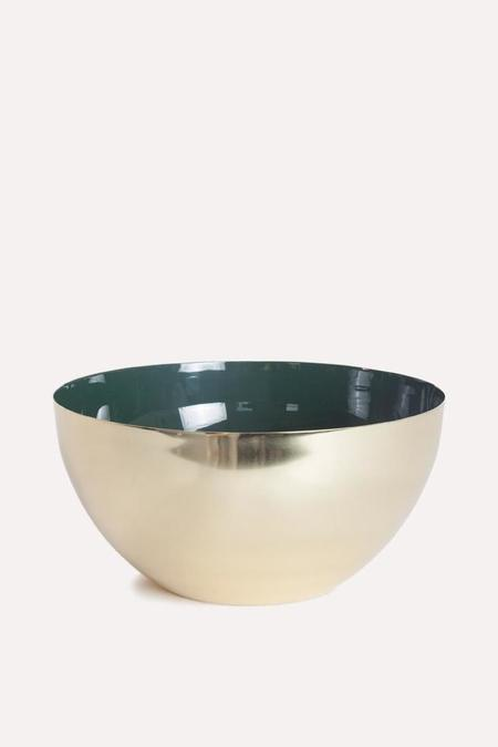 Hawkins New York Louise Brass Bowl Extra Large in Pine